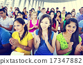 Group People Casual Learning Lecture Applause Clapping Concept 17347882