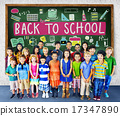 Children Cheerful Education Studying Knowledge Concept 17347890