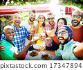 Diverse People Luncheon Outdoors Food Concept 17347894