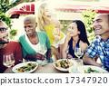 restaurant, diverse, friends 17347920