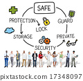 Safe Data Protection Storage Security Guard Concept 17348097
