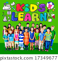 Kids Learn Education Creativity Children Ideas Concept 17349677