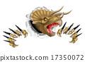 Triceratops Dinosaur Breaking Through 17350072