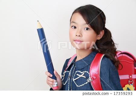 可愛的小學女生 17359293