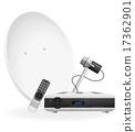 digital satellite receiver vector illustration 17362901