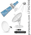 set icons satellite broadcasting vector 17362908