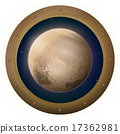 Planet Pluto in space window 17362981