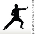 karate silhouette 17363130