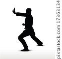 karate silhouette 17363134