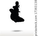 karate silhouette 17363138