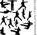 karate silhouette 17363140