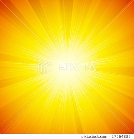 Stock Illustration: shiny sun vector