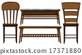 Wooden chairs and tables 17371880