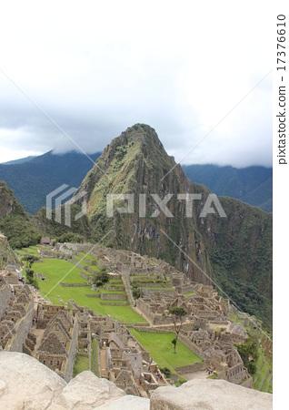 Aerial city Machu Picchu ruins 17376610