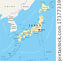 Japan Political Map 17377339