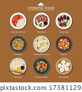 set of chinese food 17381129