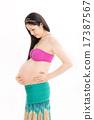 หญิงตั้งครรภ์ในเครื่องแต่งกายเต้นรำท้อง 17387567
