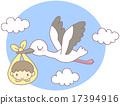 아기, 황새, 갓난 아기 17394916