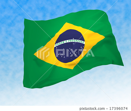 Flower Brazilian flag _ clouds sky 17396074