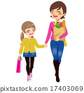 Mom Daughter Shopping Together 17403069