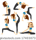 Yoga Poses Girl Set Training 17403073