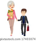 Granmother Granson Shopping Together 17403074