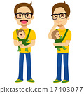 Father Holding Baby 17403077