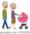 Grandparents Pushing Stroller 17403080
