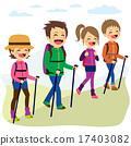 Happy Family Climbing Mountain 17403082