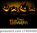 Grinning Halloween lantern  17404490