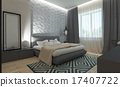 Modern bedroom intereer 17407722