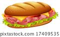 绘画 汉堡 奶酪 17409535