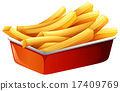 French fries in red tray 17409769