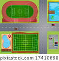 Sport fields and courts 17410698