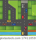 Top view of street full of cars 17411059