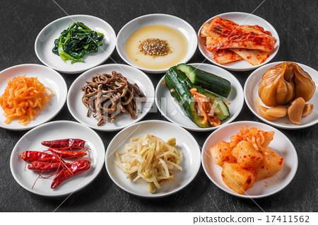 韓國泡菜收集韓國泡菜和代表性泡菜 17411562