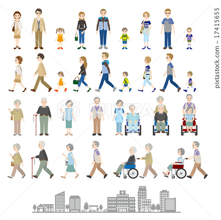 Illustration of various people / Family 17415655