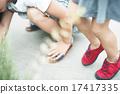 步法 橡皮底帆布鞋 腳下 17417335