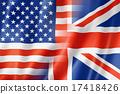 USA and UK flag 17418426