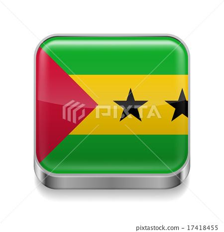 Metal  icon of Sao Tome and Principe 17418455