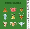 deer, animal, rabbit 17422664