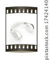 Headphones. The film strip 17424140