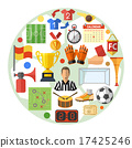 Soccer Flat Icon Concept 17425246