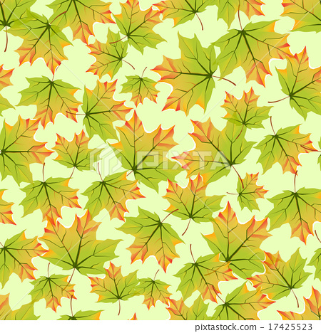 Seamless pattern with colorful autumn leaves. 17425523