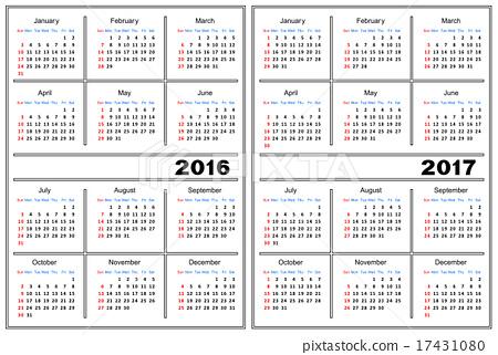 Calendar 2016 And 2017 Template from en.pimg.jp