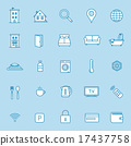 Accommodation booking icon set 17437758