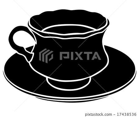 Silhouette of a teacup 17438536