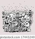monsters doodle happy 17443240