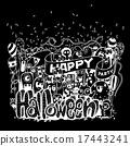 monsters doodle happy 17443241