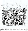 monsters doodle happy 17443244